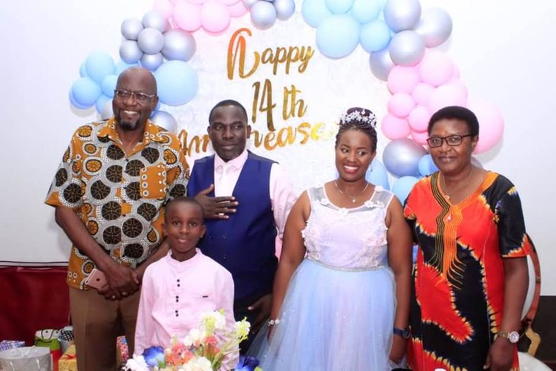 Pastor micheal Kyazze and pastor Stephen Senfuma on their 14th anniversary